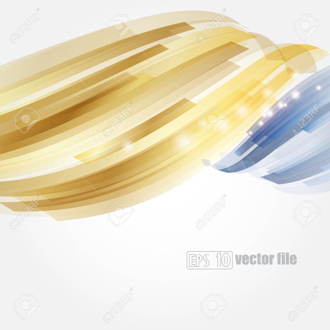 Abstract bright blue and gold background Vector Stock Vector - 17447004