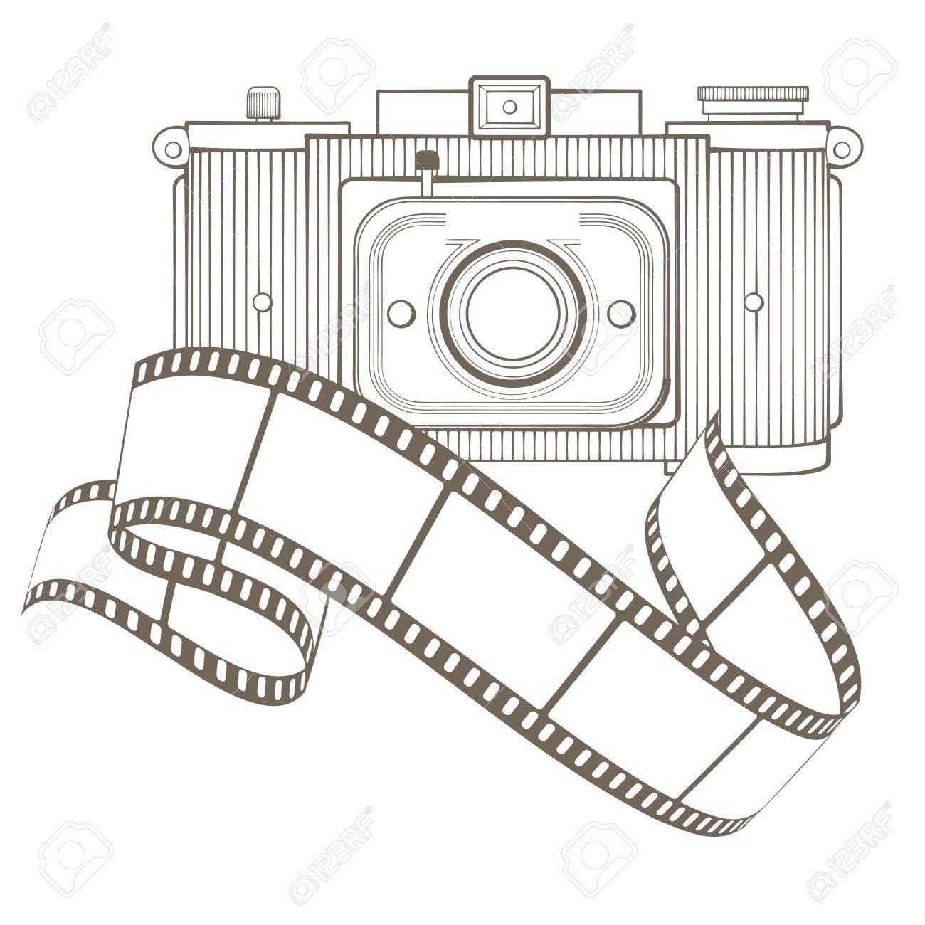 Retro photo camera with vignette Stock Vector - 17772500