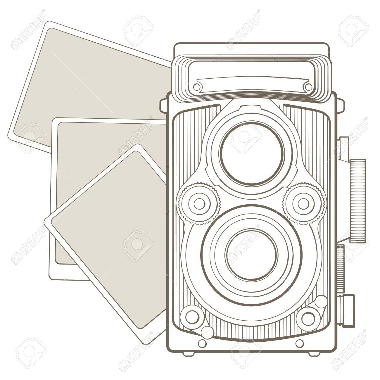 Vintage photo camera with vignette Stock Vector - 17772499