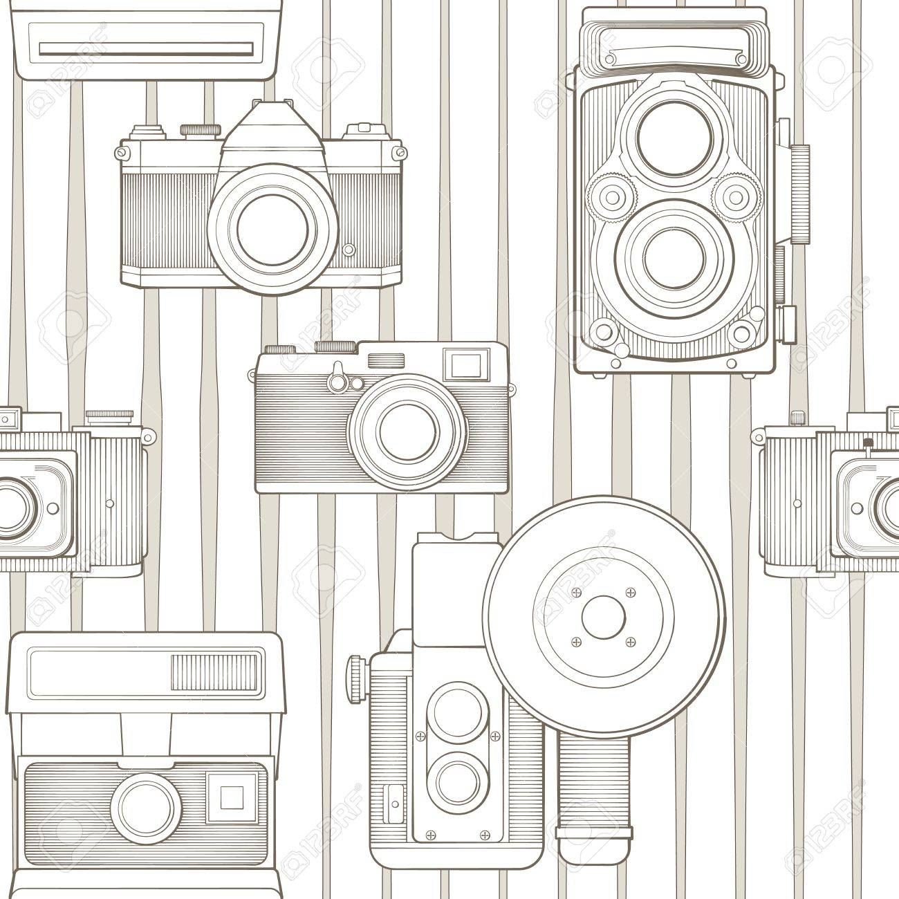 vintage seamless pattern with camera Stock Vector - 17772517