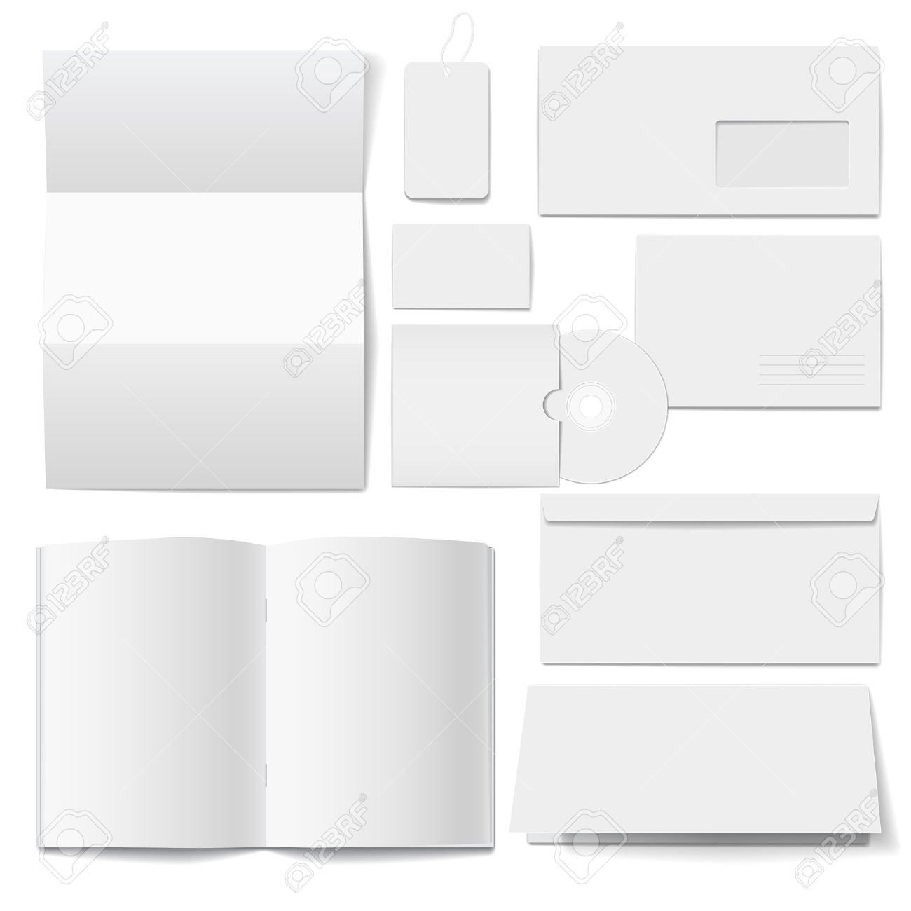 Corporate Identity Templates Selected Blank Royalty Free Cliparts ...