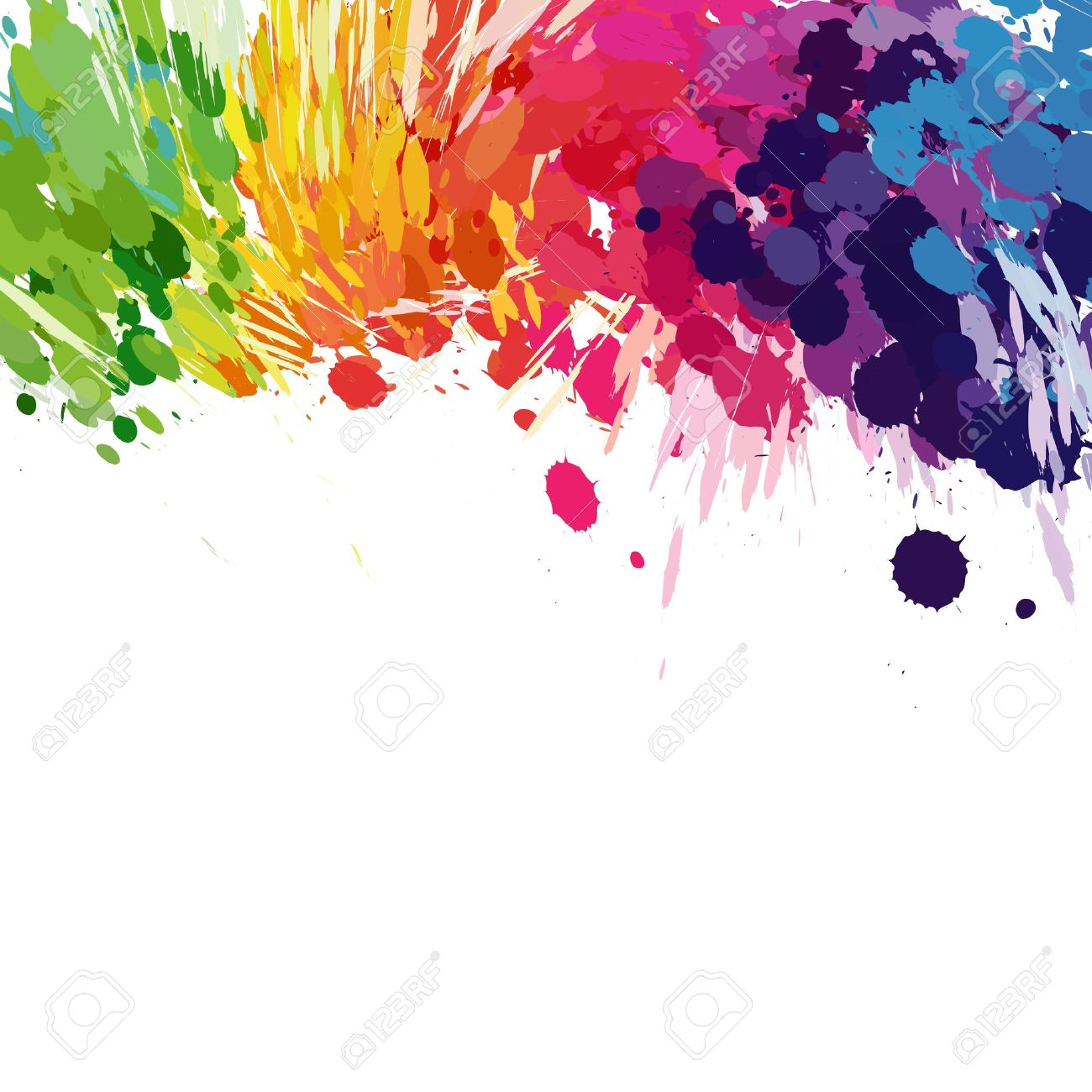 Abstract Background Of Colored Splashes Blots Stock Vector