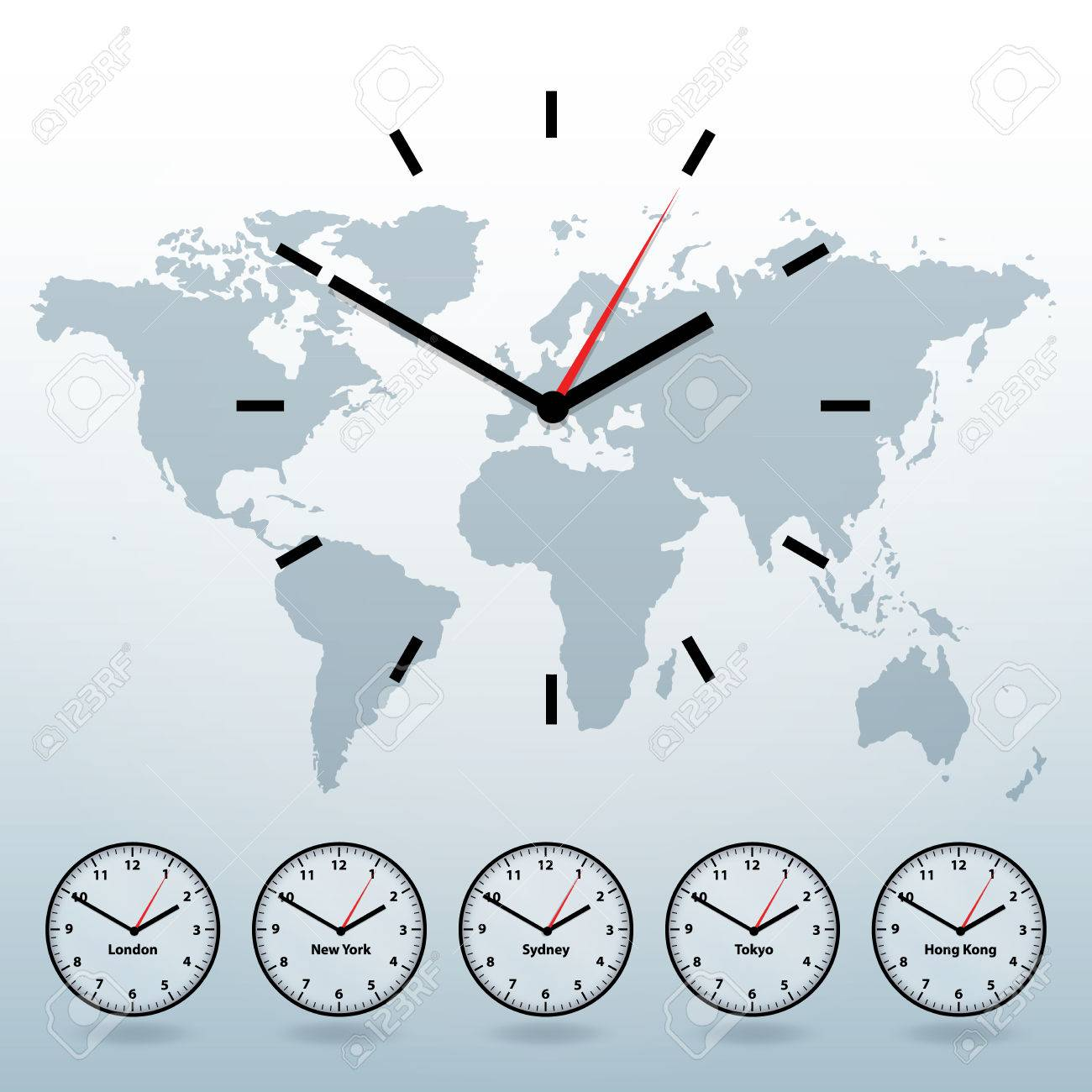 World map and world time vector background royalty free cliparts vector world map and world time vector background gumiabroncs Images