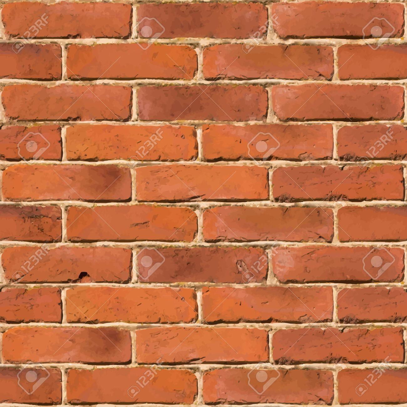 Red brick wall seamless vector texture - 29903375