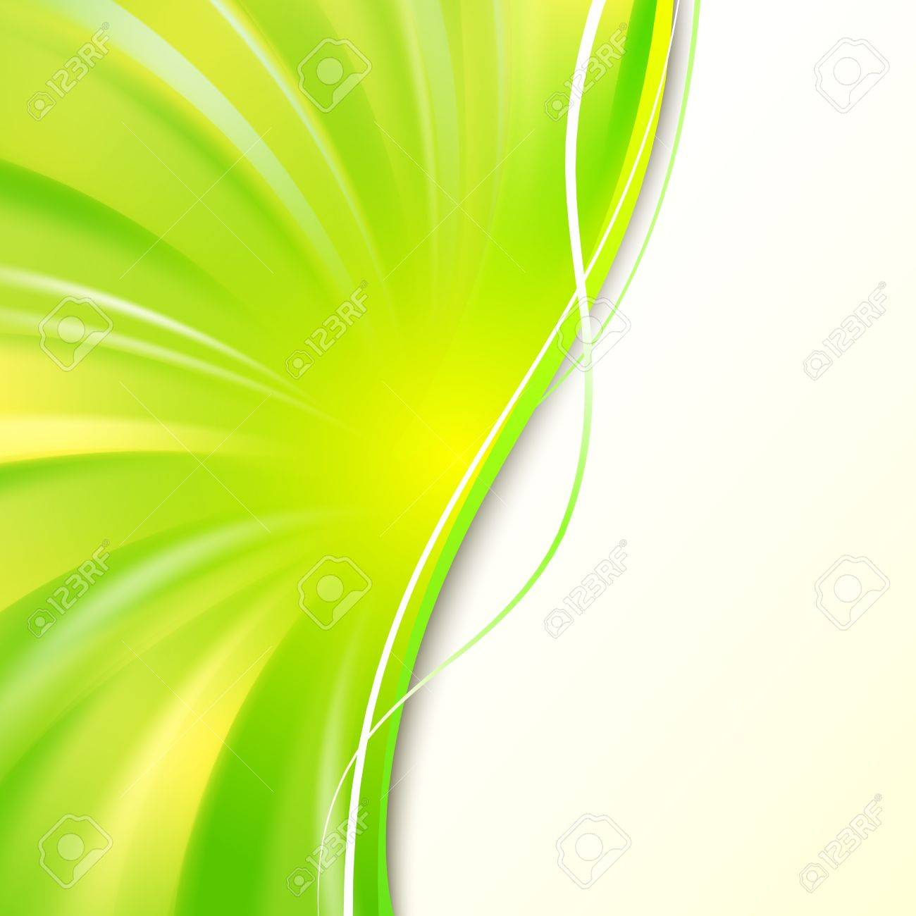 Abstract green cover with smooth lines  Vector background, eps 10, contains transparencies Stock Vector - 17605932