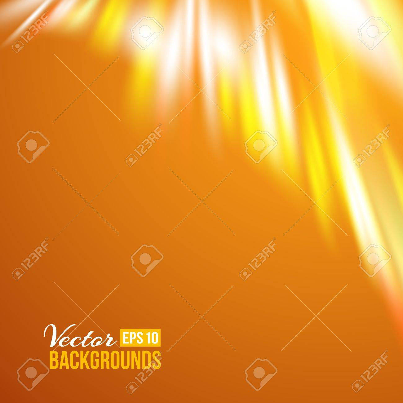 Northern Lights  Aurora borealis  over orange  Vector illustration Stock Vector - 17773412