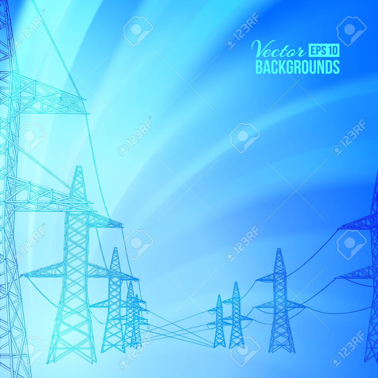 power line on a white background  Vector illustration Stock Vector - 17773498