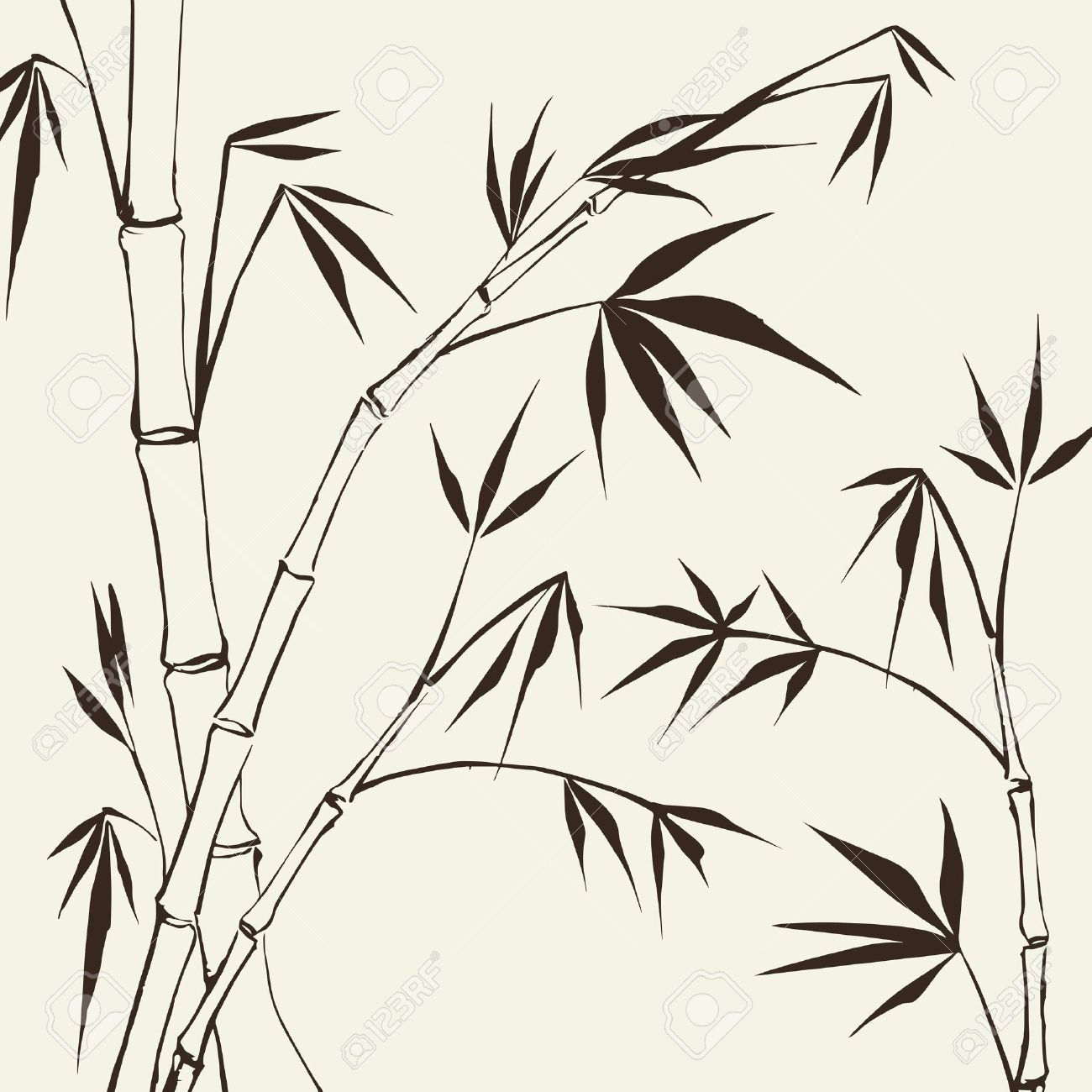 Bamboo Painting Vector illustration, contains transparencies, gradients and effects - 18737915