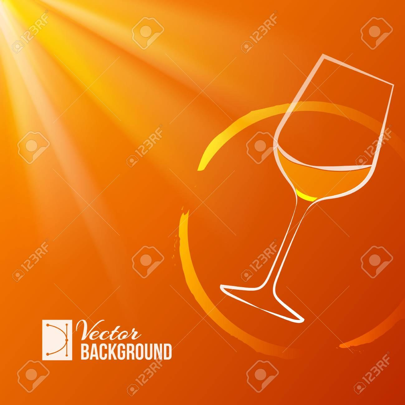 Wine glass over shine backdrop  Vector illustration Stock Vector - 19731298