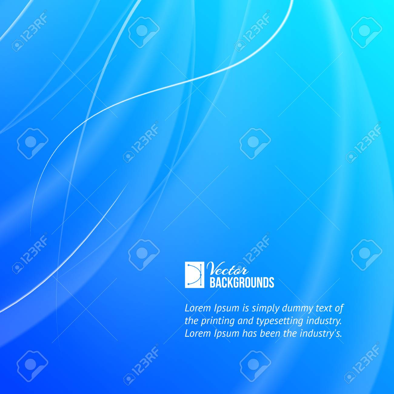 Abstract blue background illustration Stock Vector - 20235843
