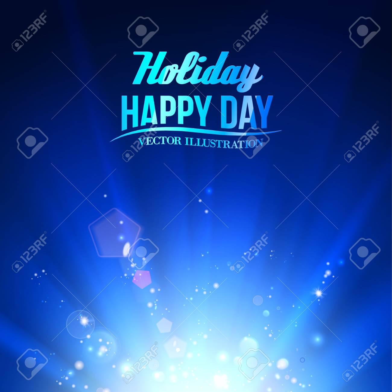 Blue luminous rays. Vector illustration. Stock Vector - 21857771
