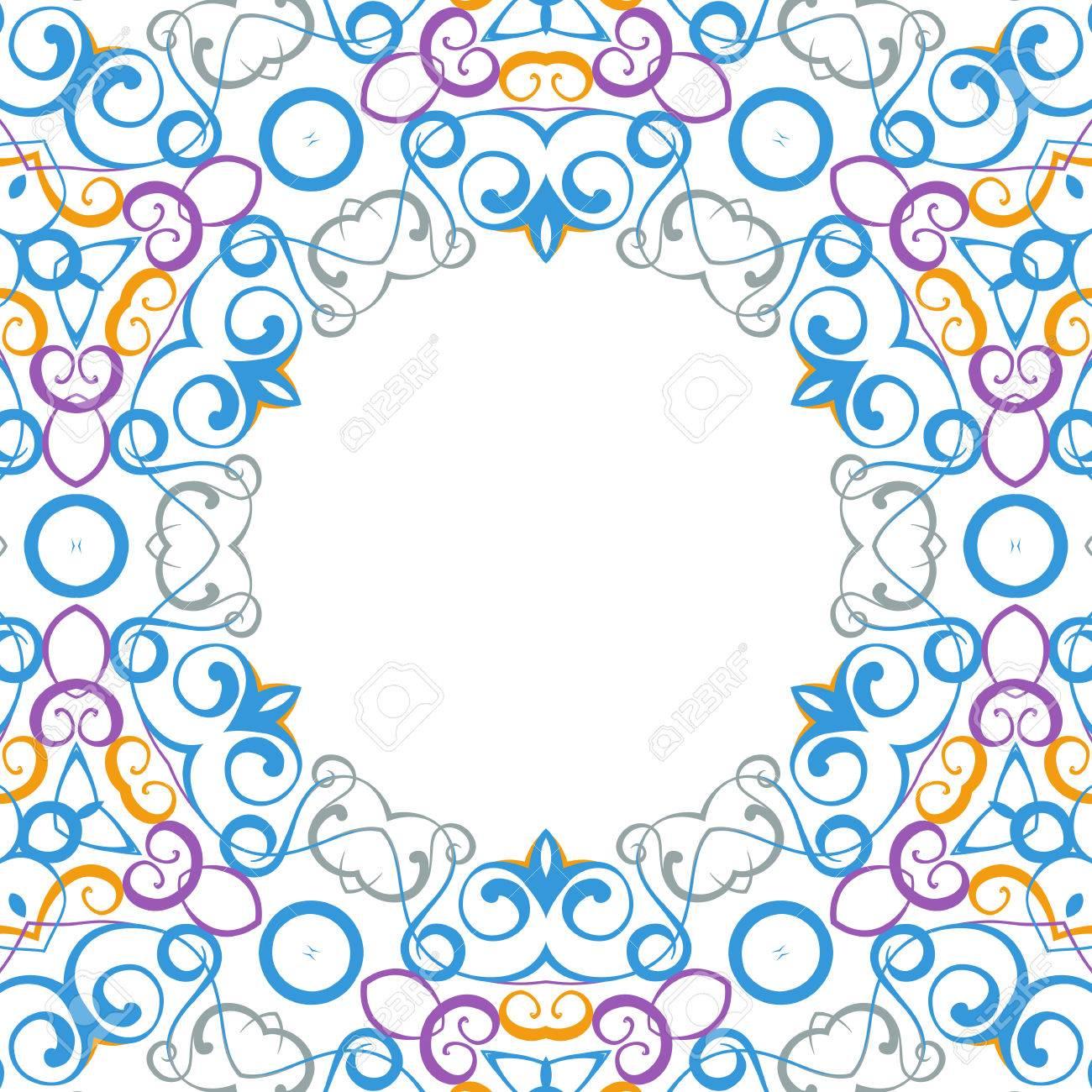 Formality circular devices of border frames. Vector illustration. Stock Vector - 23079468