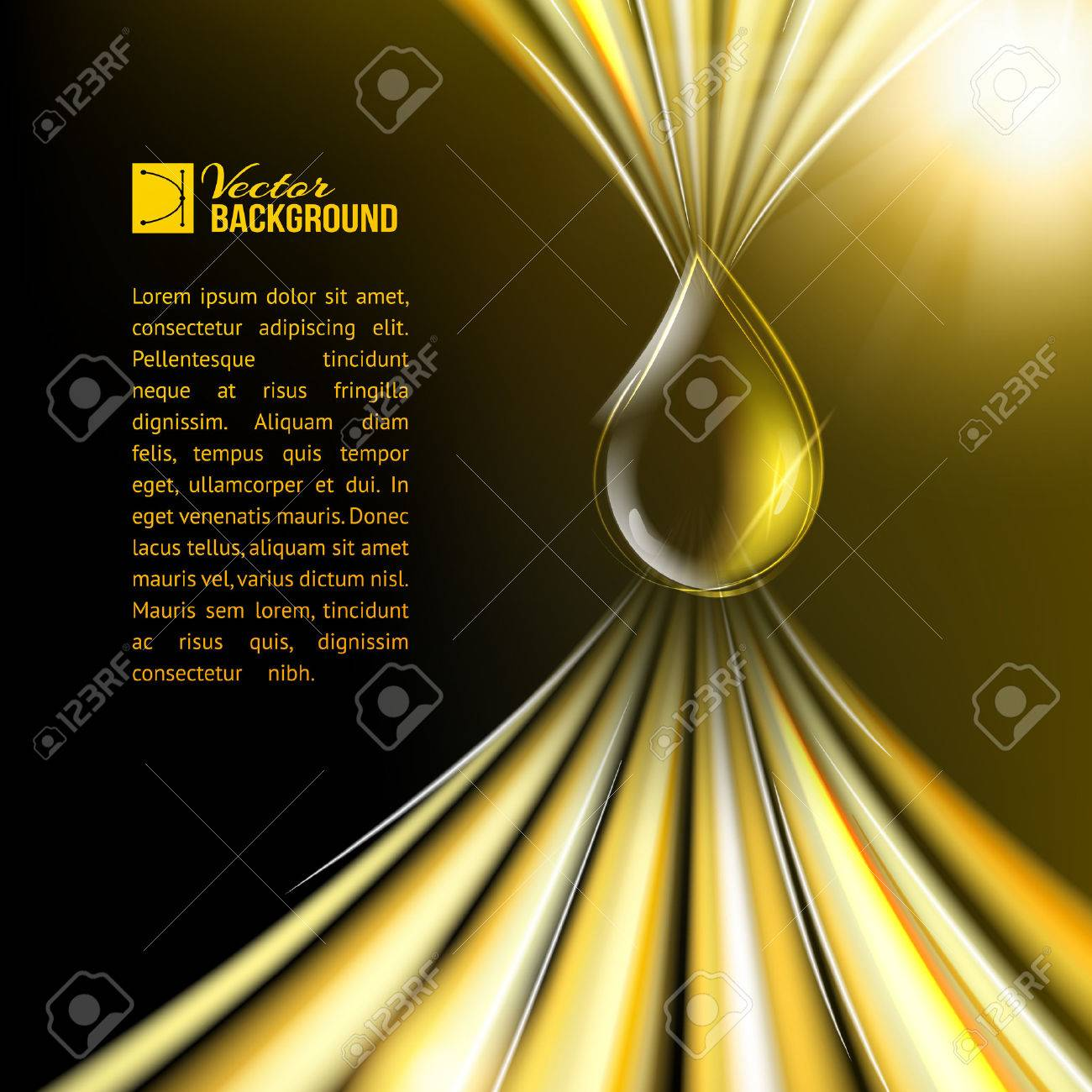 Oil drop over oil surface. Vector illustration. - 23640032
