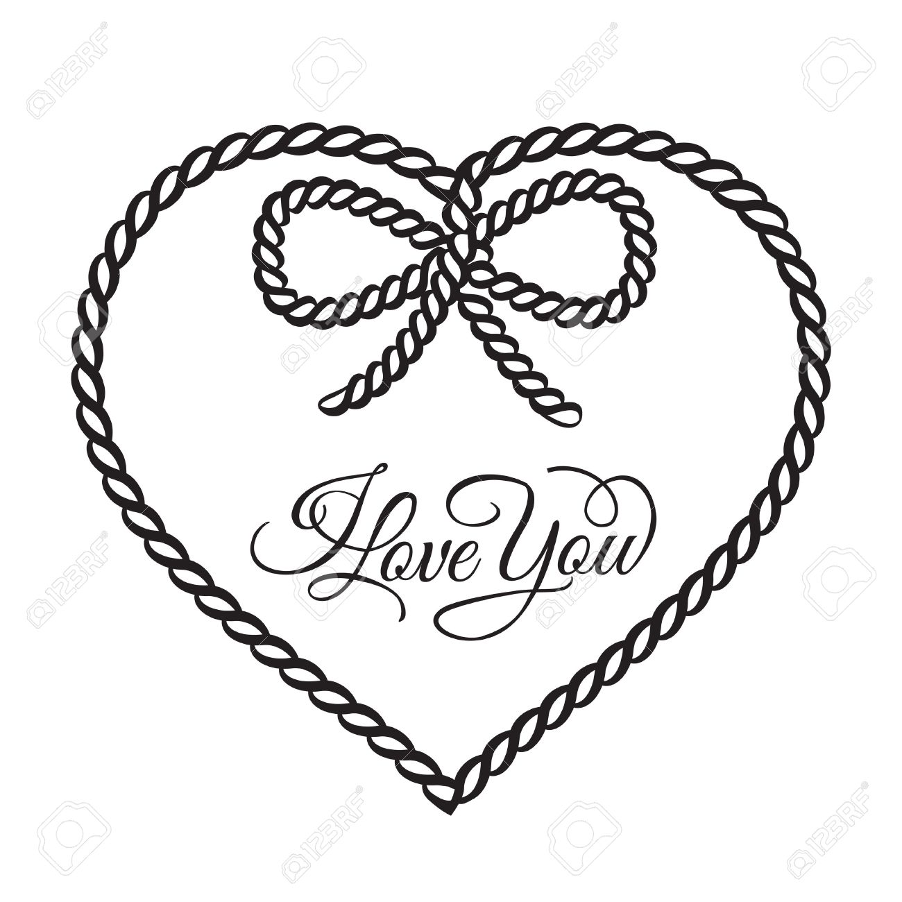 I Love You Card Vector Illustration Royalty Free Klipartlar