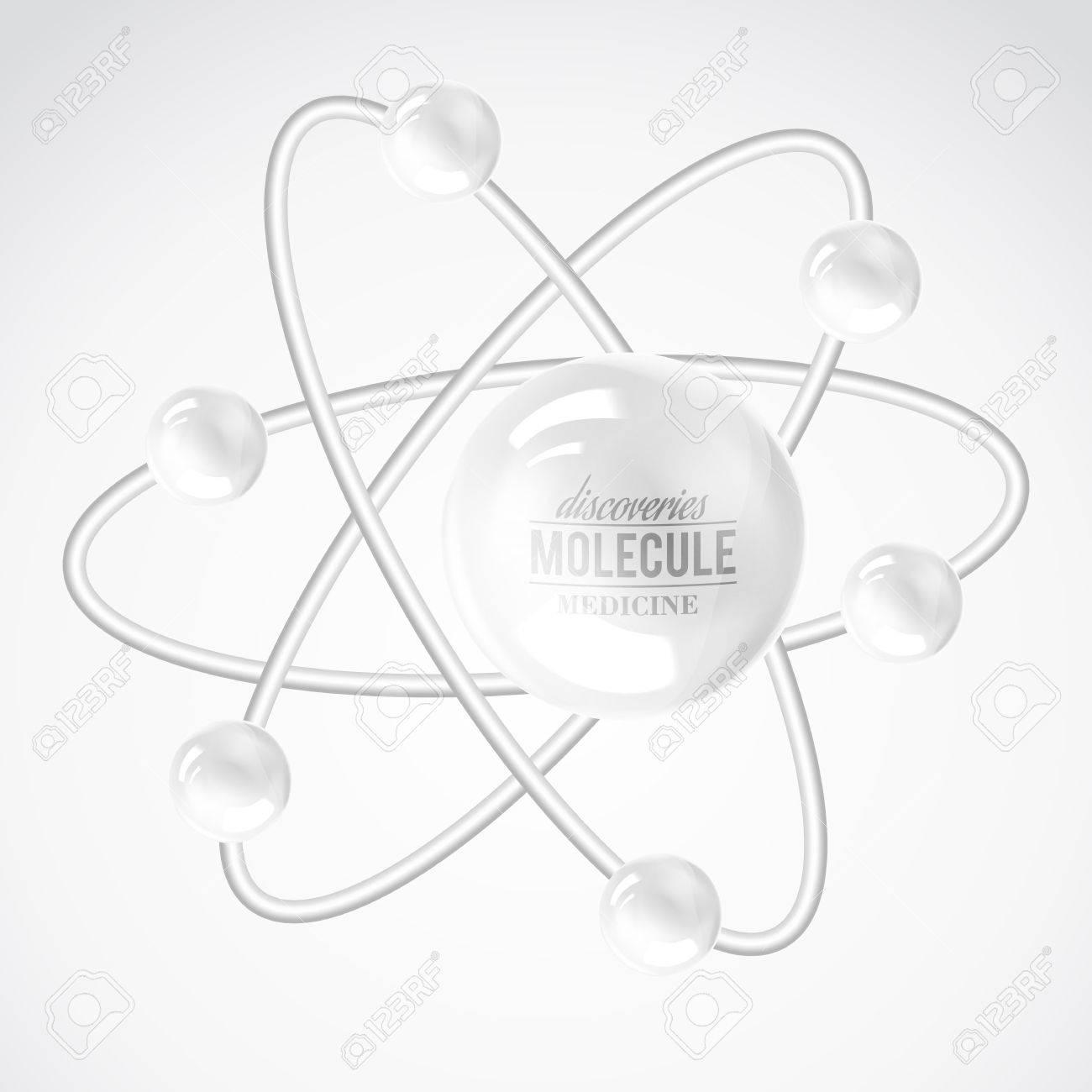 Molecule icon over white. Vector illustration. Stock Vector - 25929914