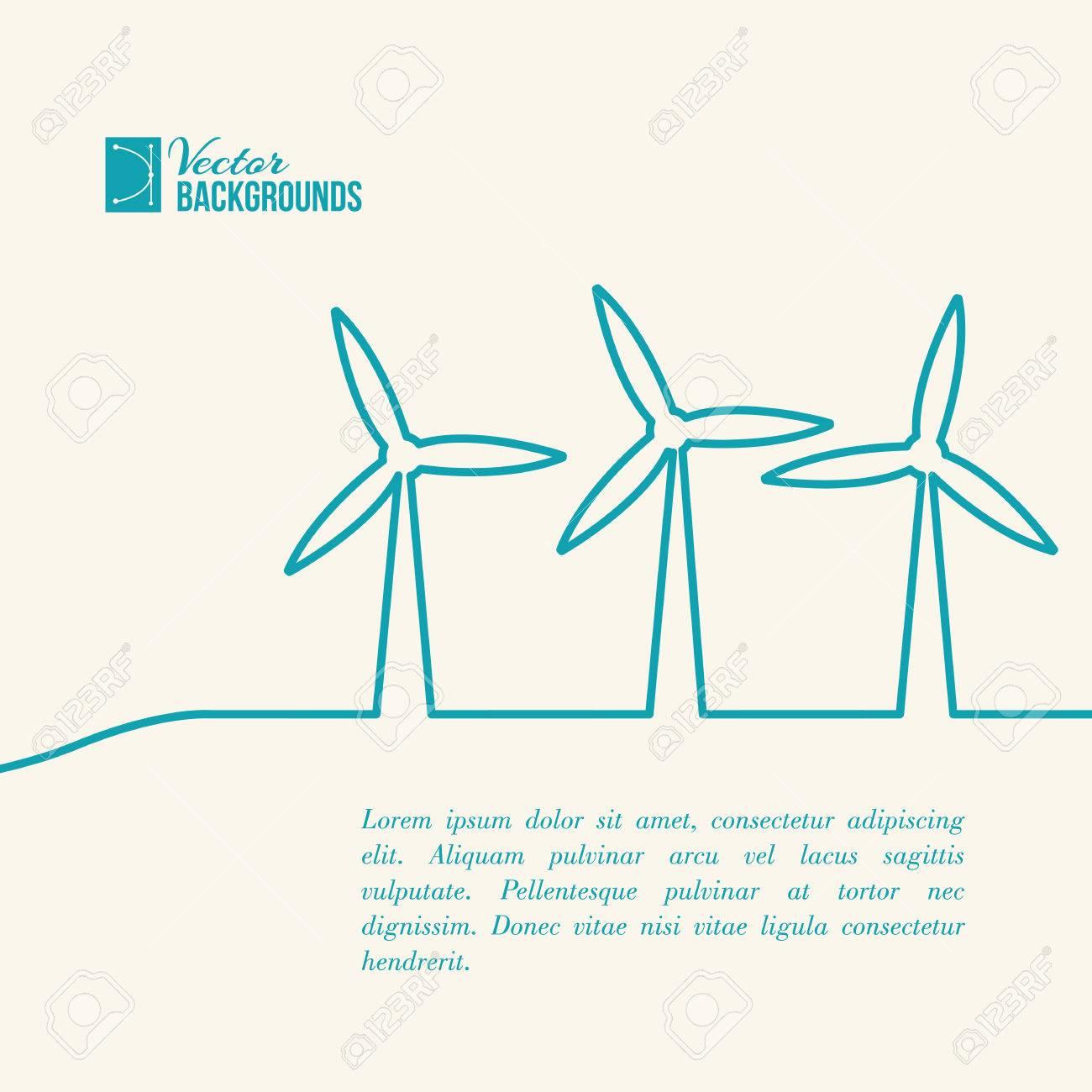 Wind Turbines Generating Electricity Royalty Free Cliparts Vectors Diagram Vector