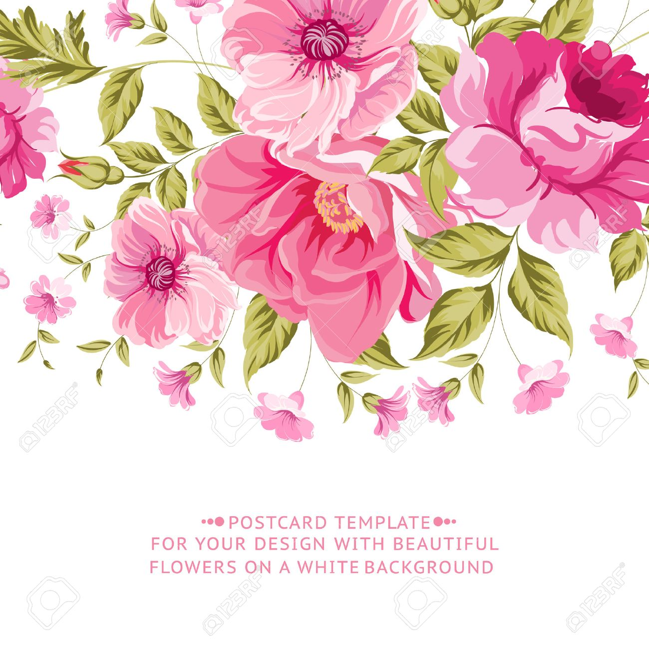 Ornate pink flower decoration with text label elegant vintage ornate pink flower decoration with text label elegant vintage greeting card design vector illustration mightylinksfo