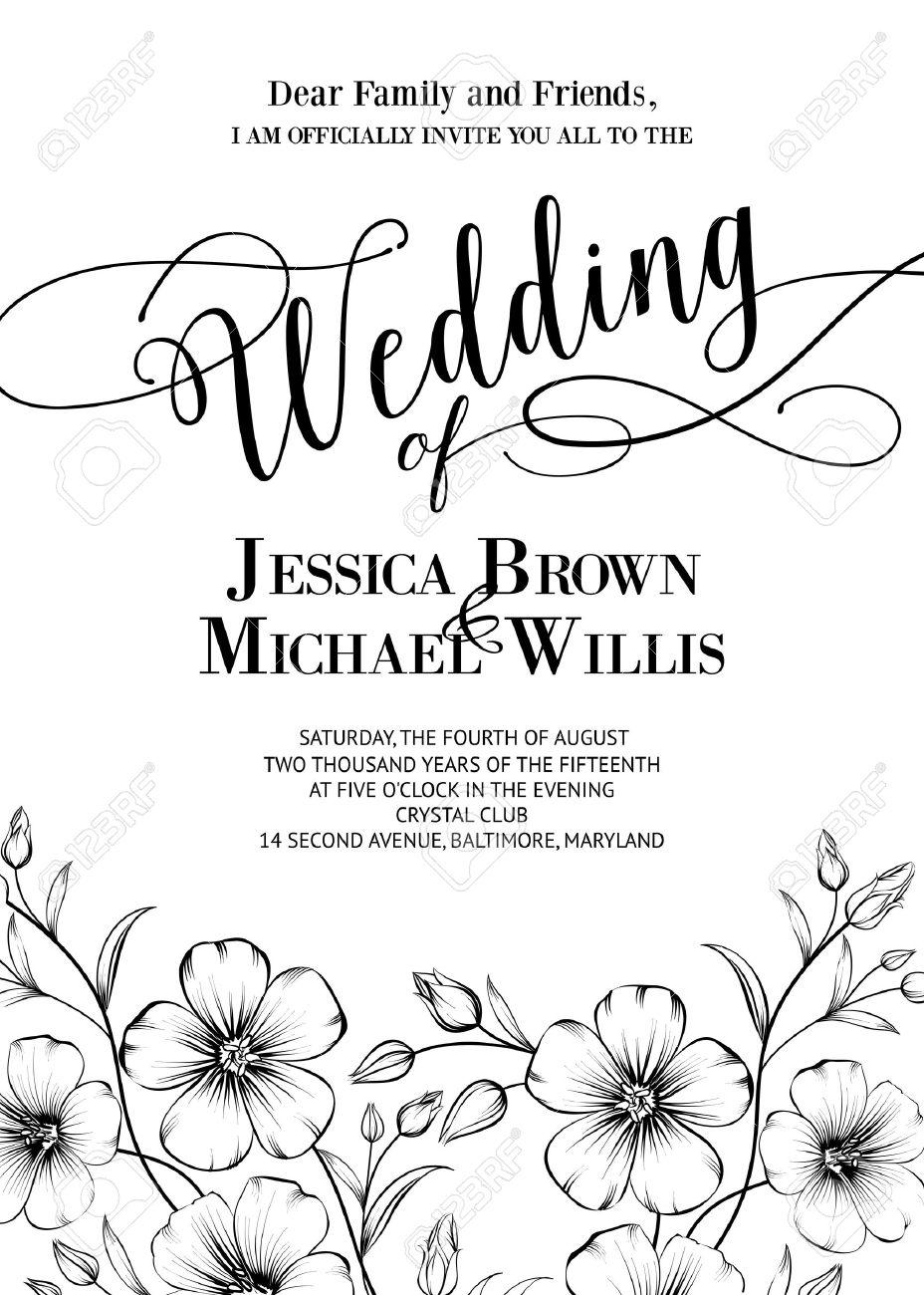 Awesome wedding invitation with generic text for your design awesome wedding invitation with generic text for your design isolated over white vector illustration stopboris Choice Image