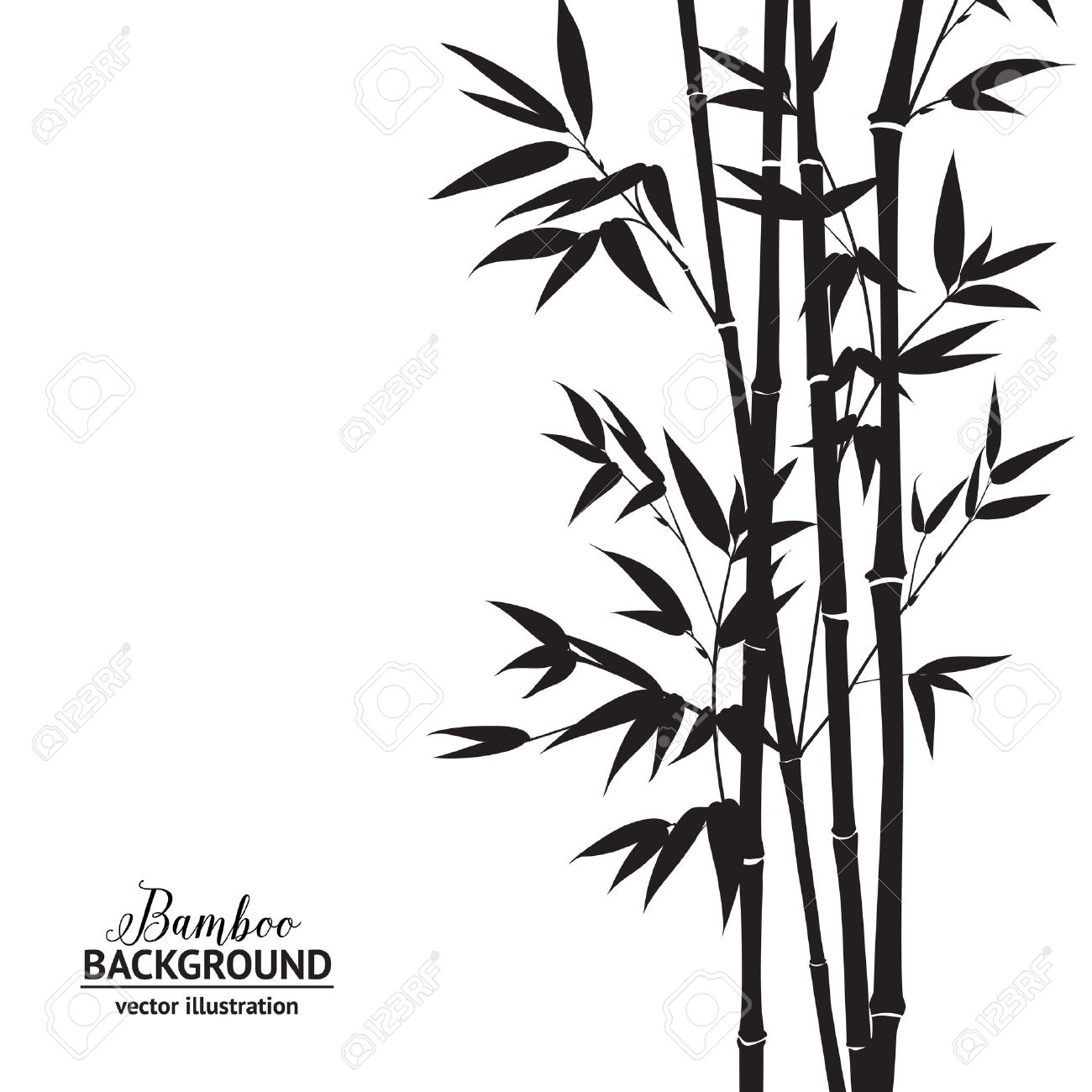 bamboo bush ink painting over white background vector illustration rh 123rf com bamboo vector graphics bamboo vector graphics