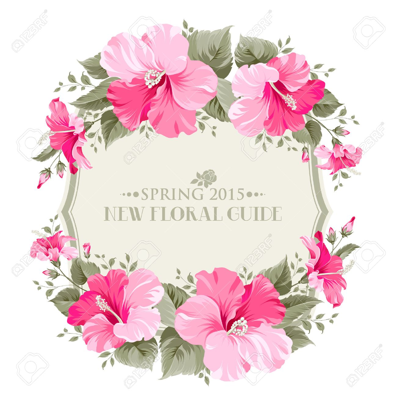 Wedding invitation card with happy holyday text and romantic vector wedding invitation card with happy holyday text and romantic flowers vector illustration stopboris Images
