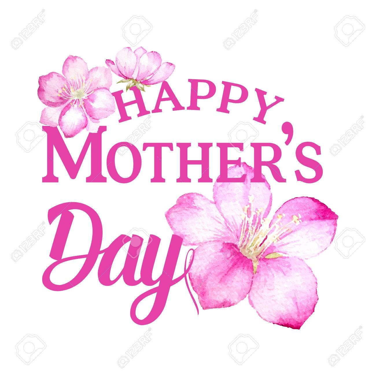 Feliz Tarjeta De Invitación Día De La Madre Con El Texto De Encargo