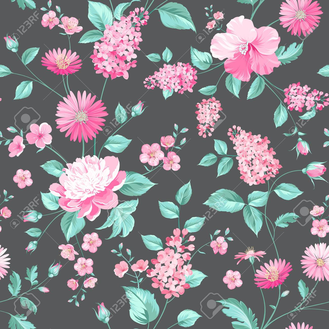 Fabric Flower Pattern Cool Inspiration