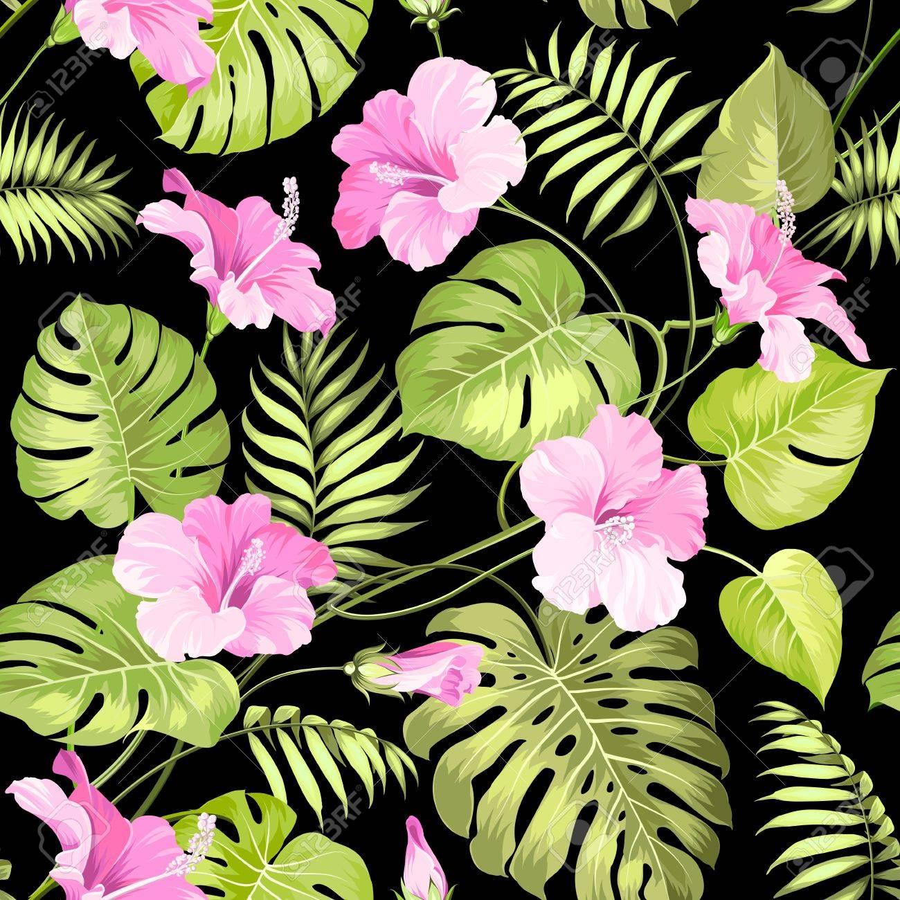 Sin Fisuras Patron De Flores Tropicales Flor Tropical Patron