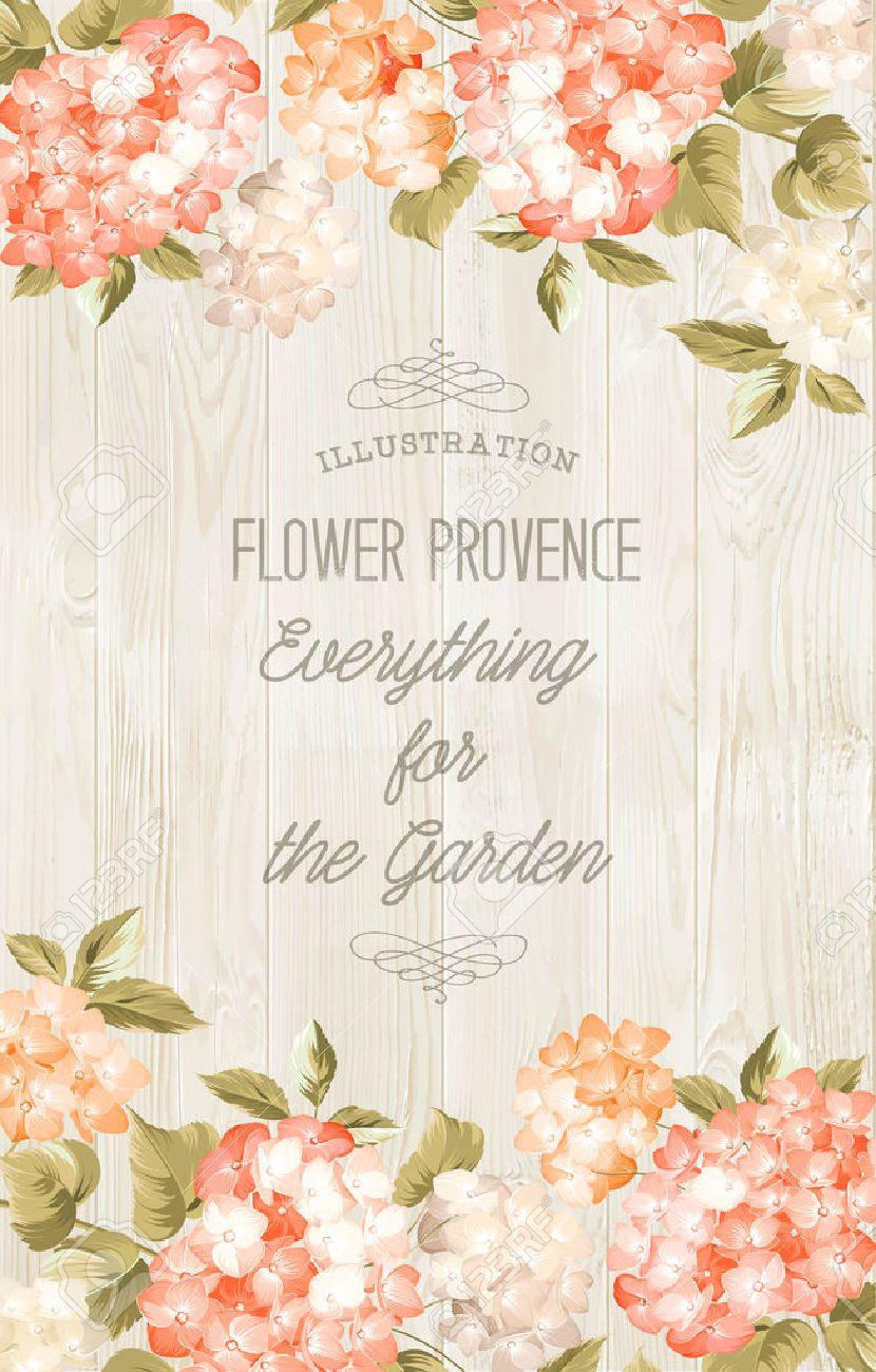 Purple hydrangea wedding invitation sample - Beautiful Purple Flower Of Hydrangea Wedding Card And Engagement Announcement Invitation Card Template With