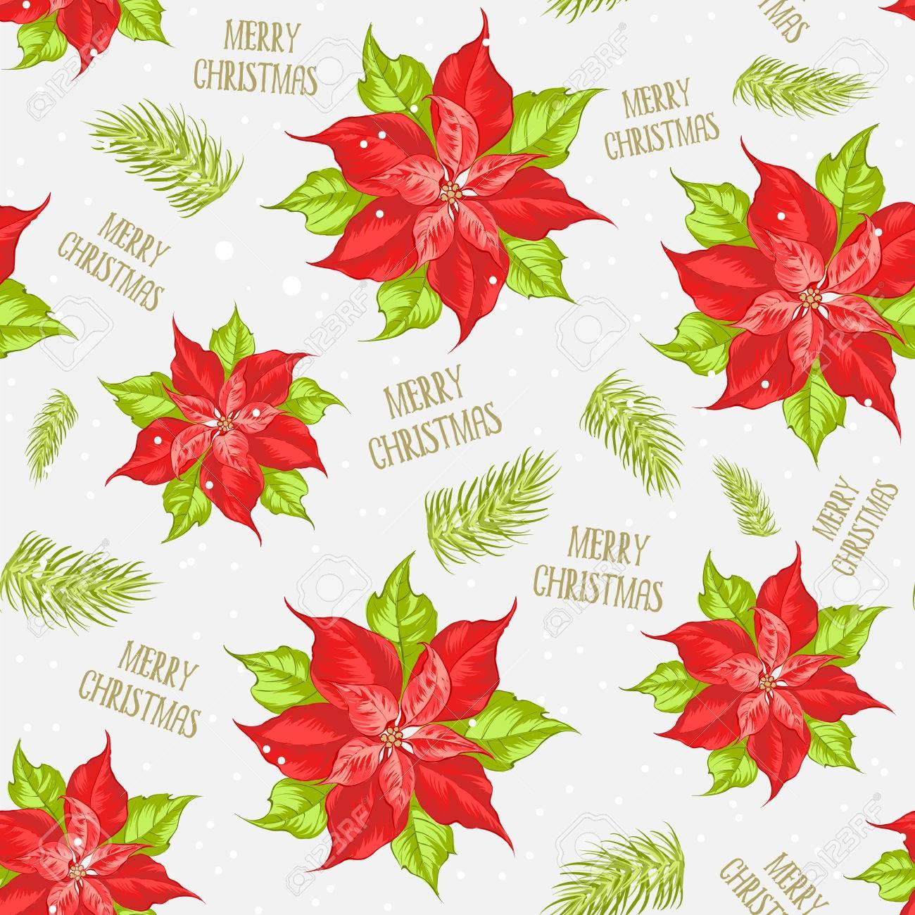 Stella Di Natale Cartamodello.Fiore Rosso Poinsettia Priorita Bassa Senza Giunte Di Natale Con La Stella Di Natale Modello Senza Cuciture Floreale Fatto A Mano Con La Stella Di