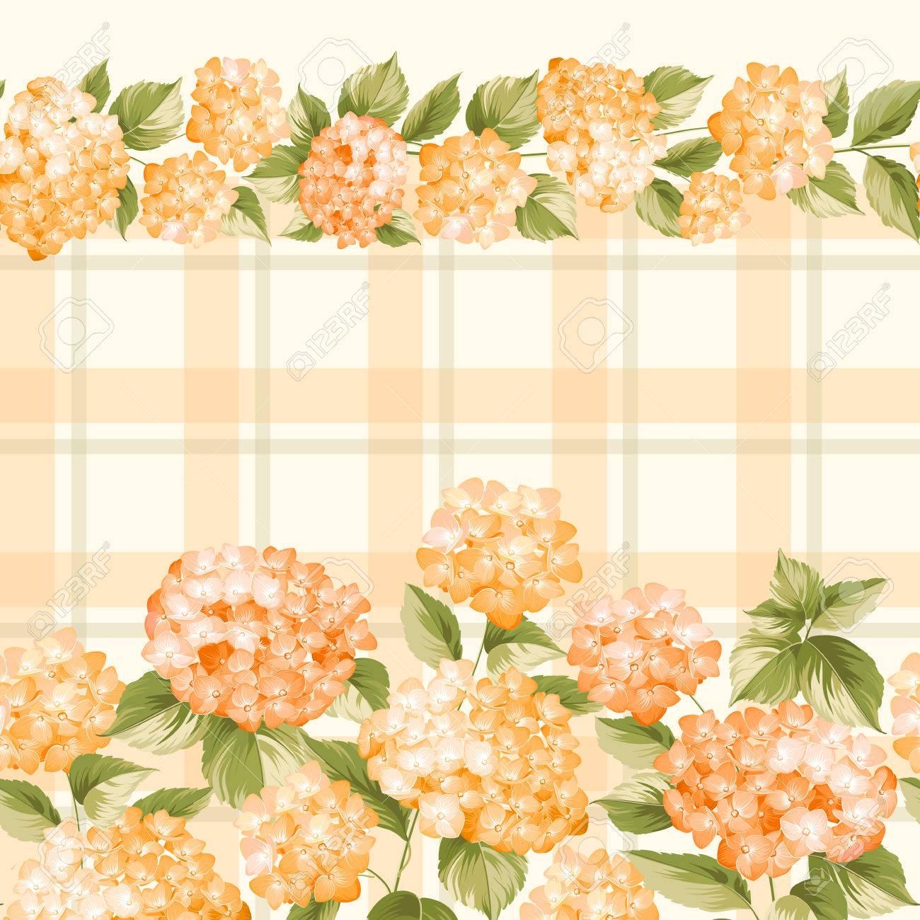 Orange pattern yellow hydrangea flowers seamless texture orange yellow hydrangea flowers seamless texture orange flowers fabric flower pattern mightylinksfo