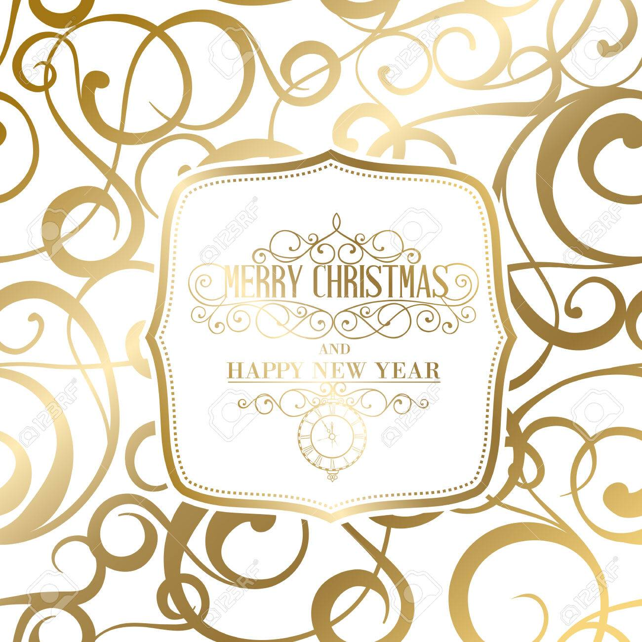 The Happy New Year Card. Fantasy Frame. Can Be Used For Invitation ...
