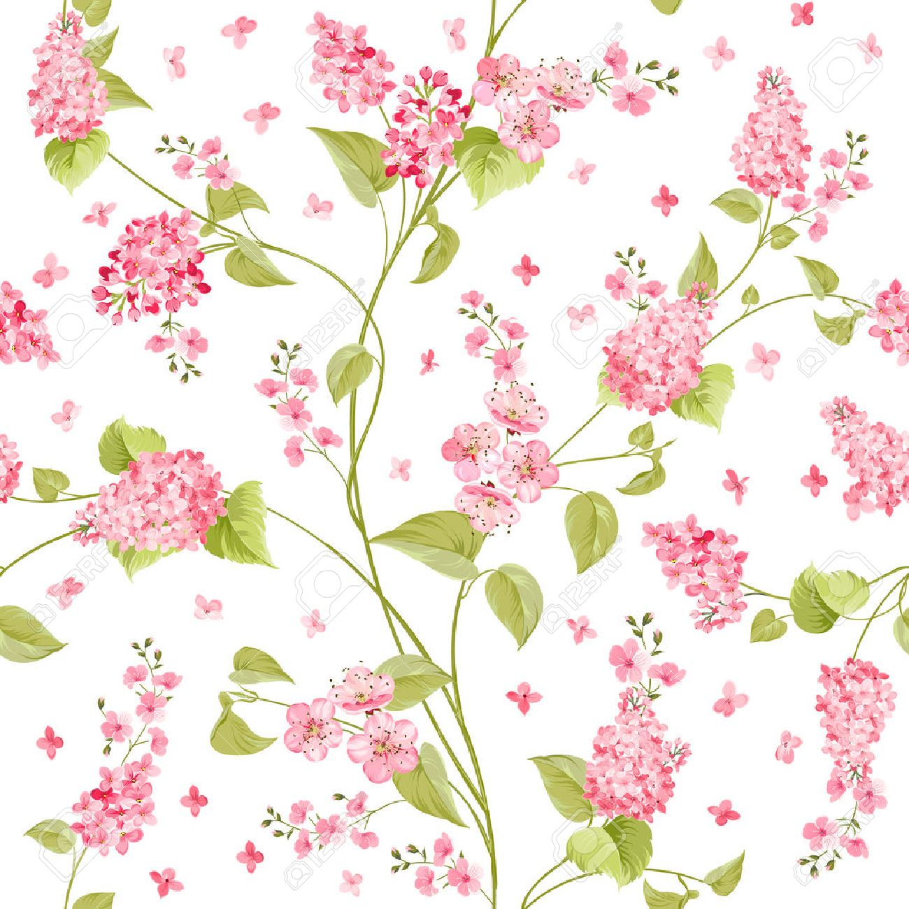 Fabric Texture Pattern With Seamless Flowers The Floral Seamless