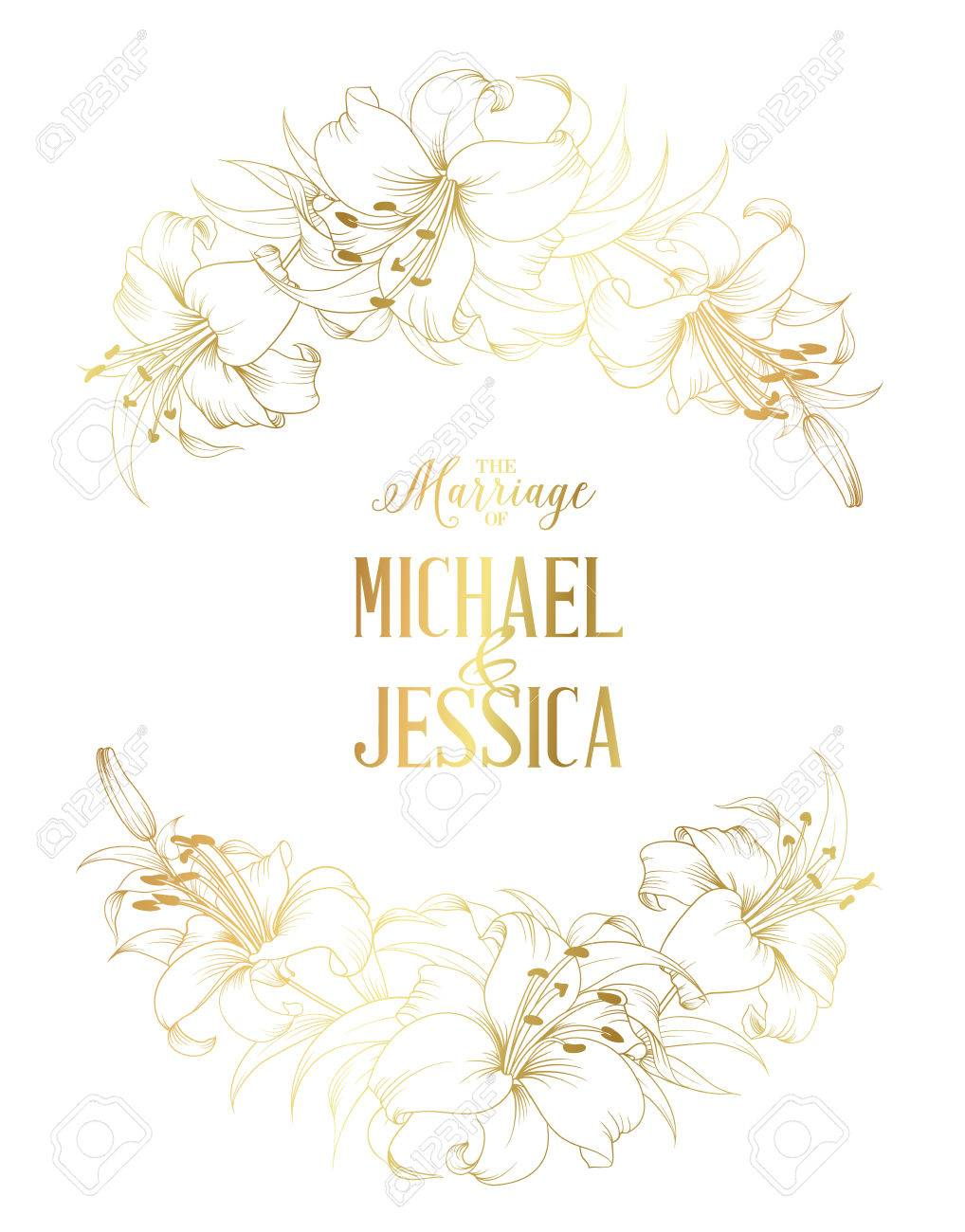 Wedding Card And Engagement Announcement Invitation