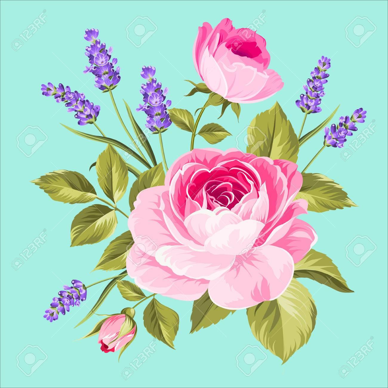 Fleurs De Printemps Bouquet De Guirlande De Bourgeon De Couleur