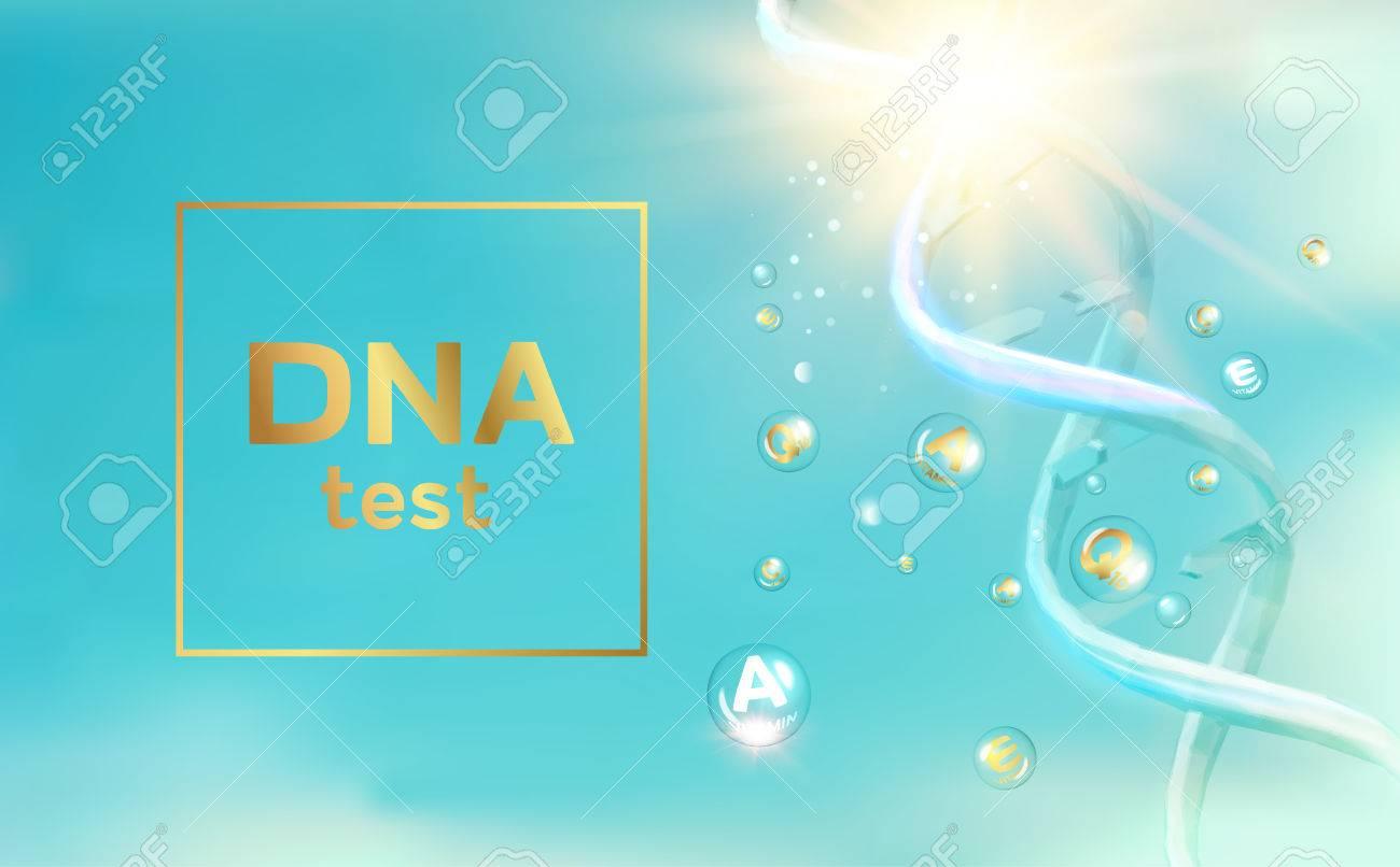 The DNA Test presentation  Chemical formula and dna molecule