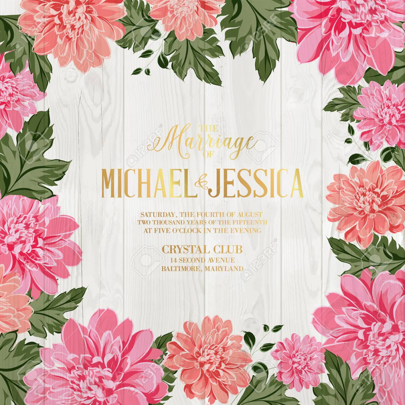 marriage invitation card chrysanthemum garland for holiday card avesome flower border with mum flowers