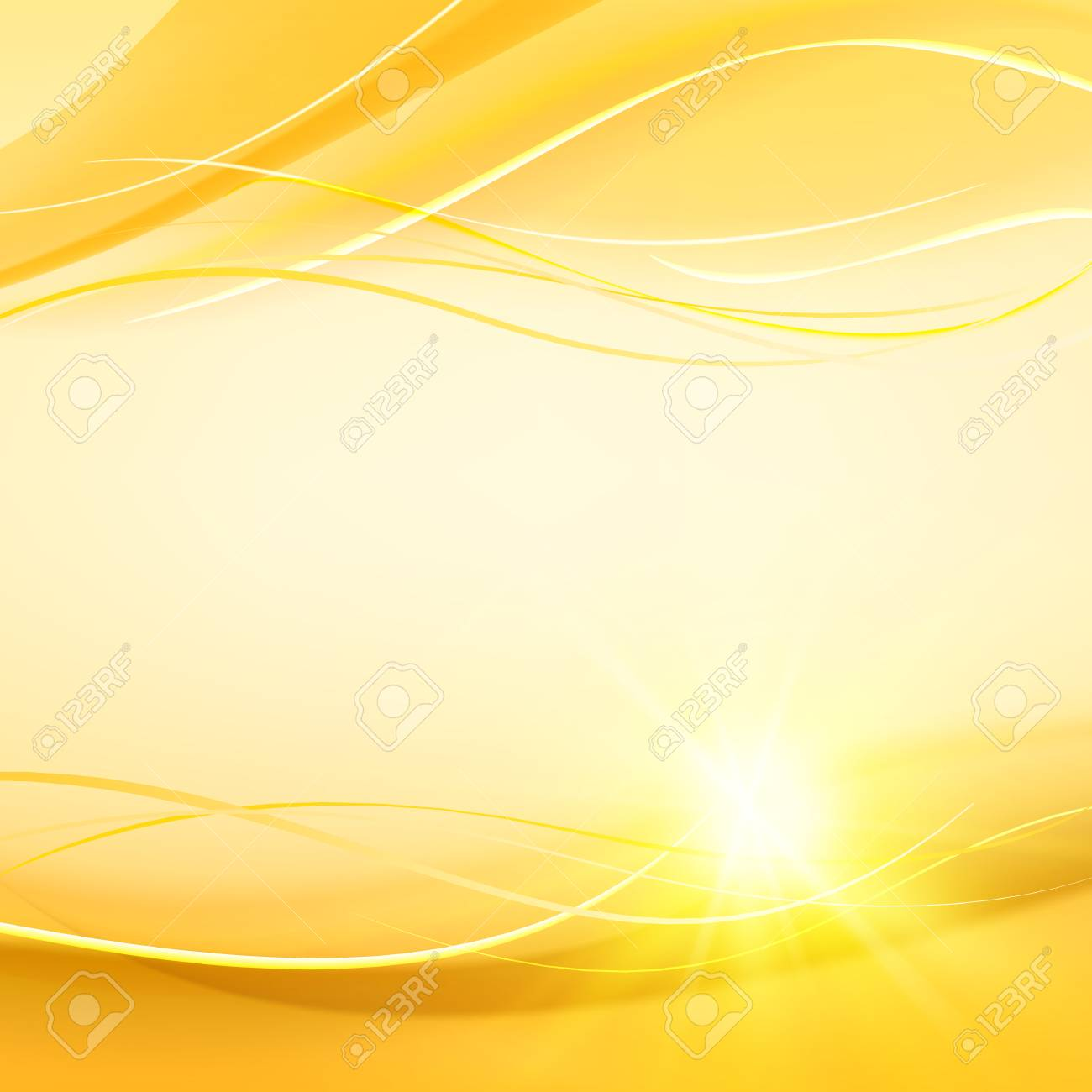 Futuristic Background Abstract Smooth Yellow Lines Over Orange Royalty Free Cliparts Vectors And Stock Illustration Image 96708214