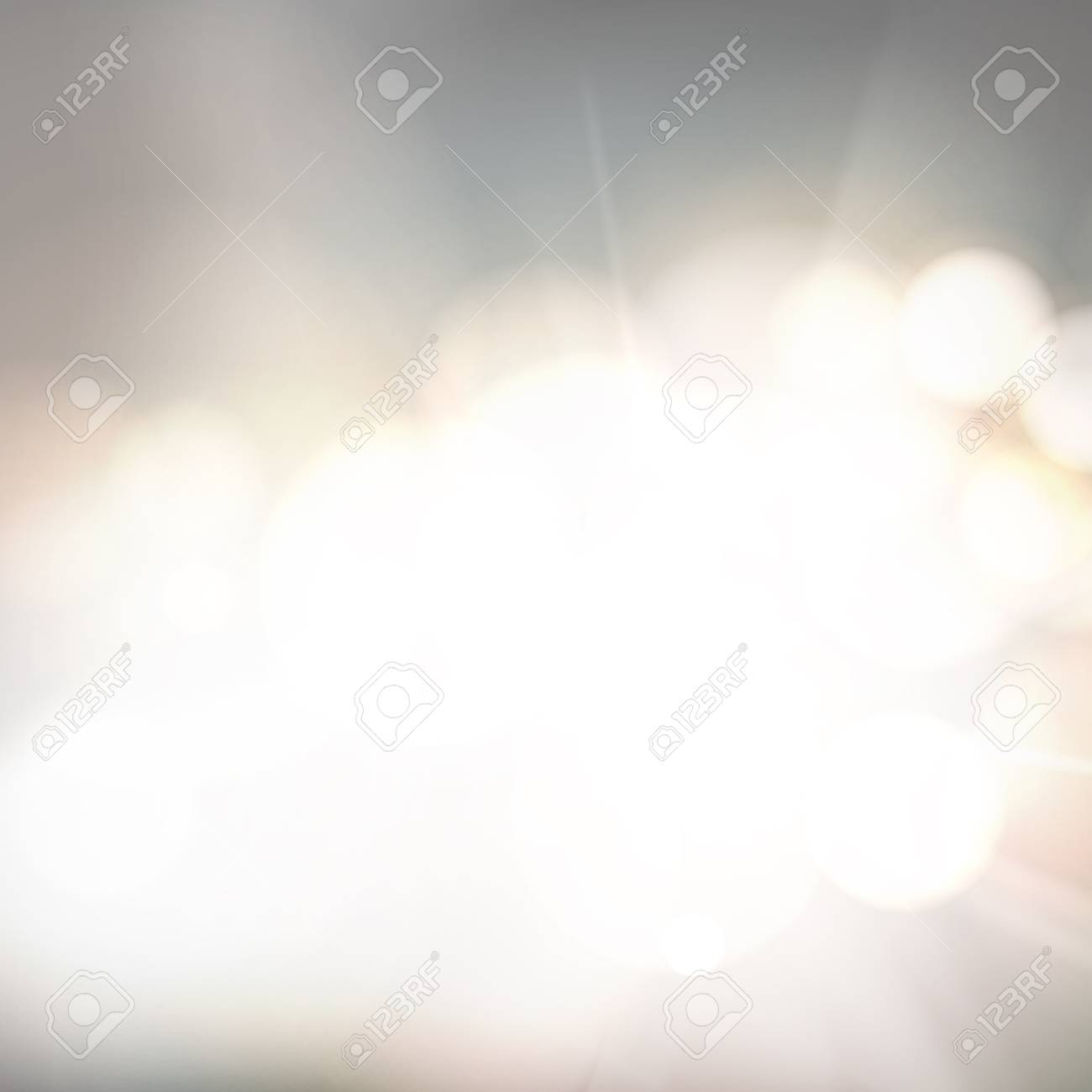 Soft bokeh and lights. Abstract shining space futuristic background. Fasion golden background. Bokeh light circles over gray backdrop. Vector illustration. - 125939629