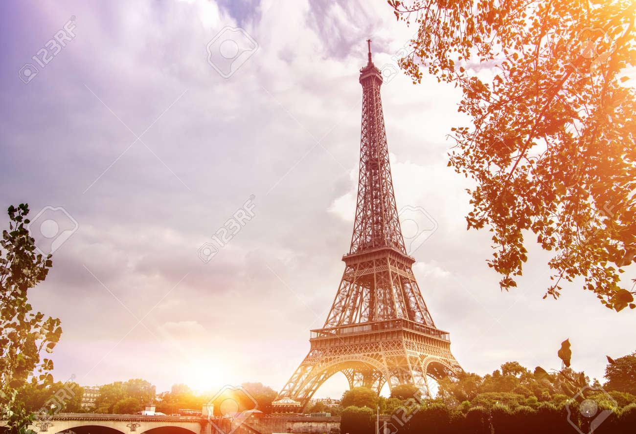 Eiffel Tower from Seine river, Paris, France. - 156792867