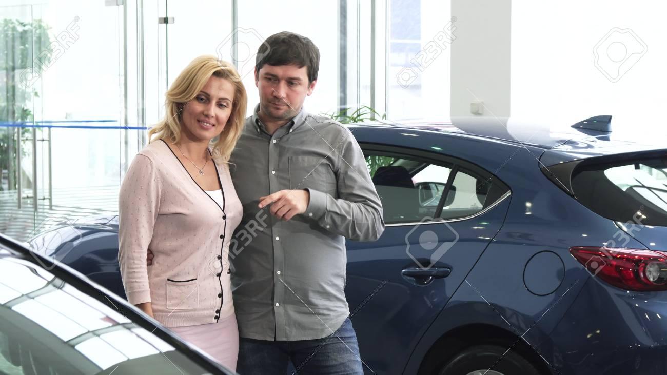 Mature wife in car
