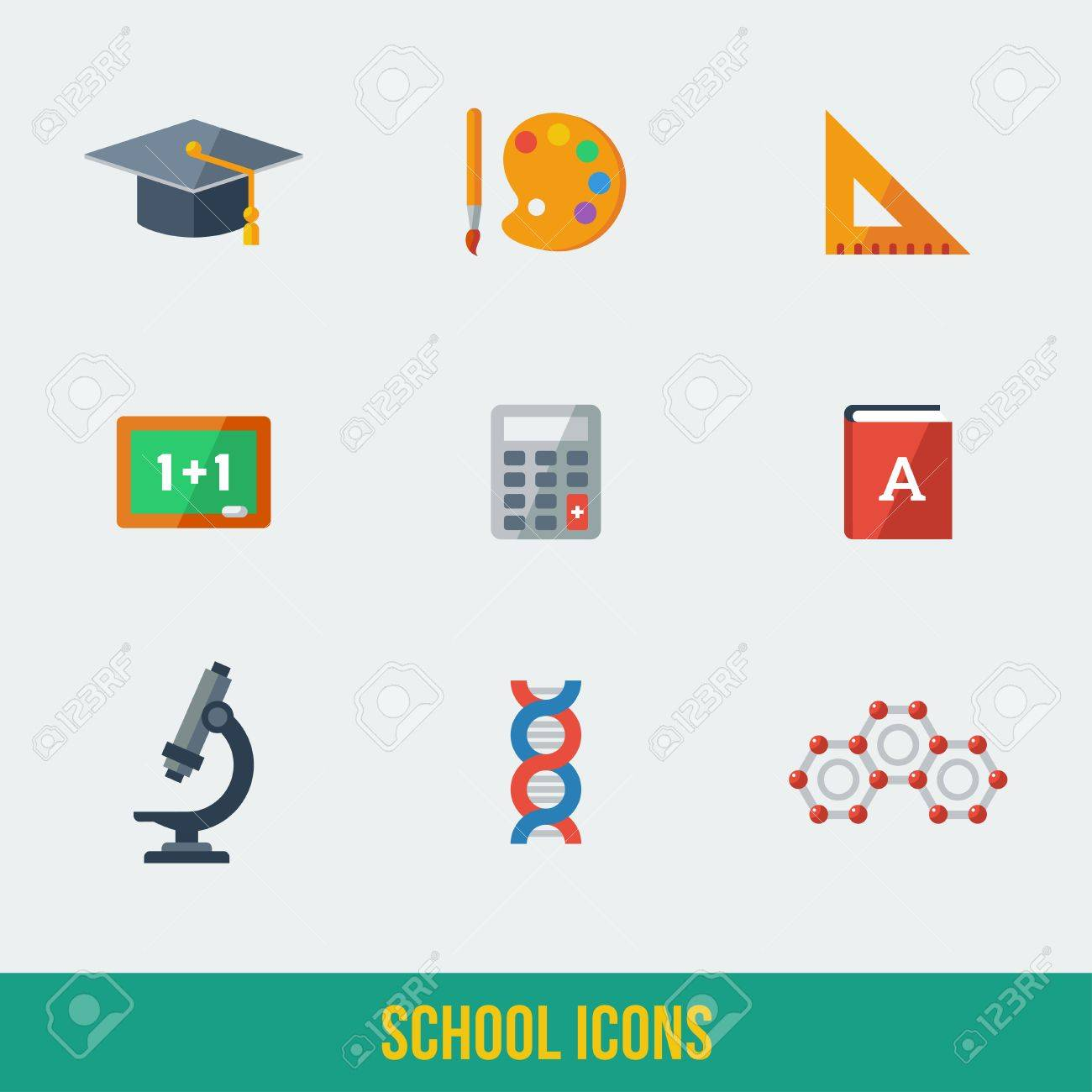 High School Object And College Education Items With Teaching