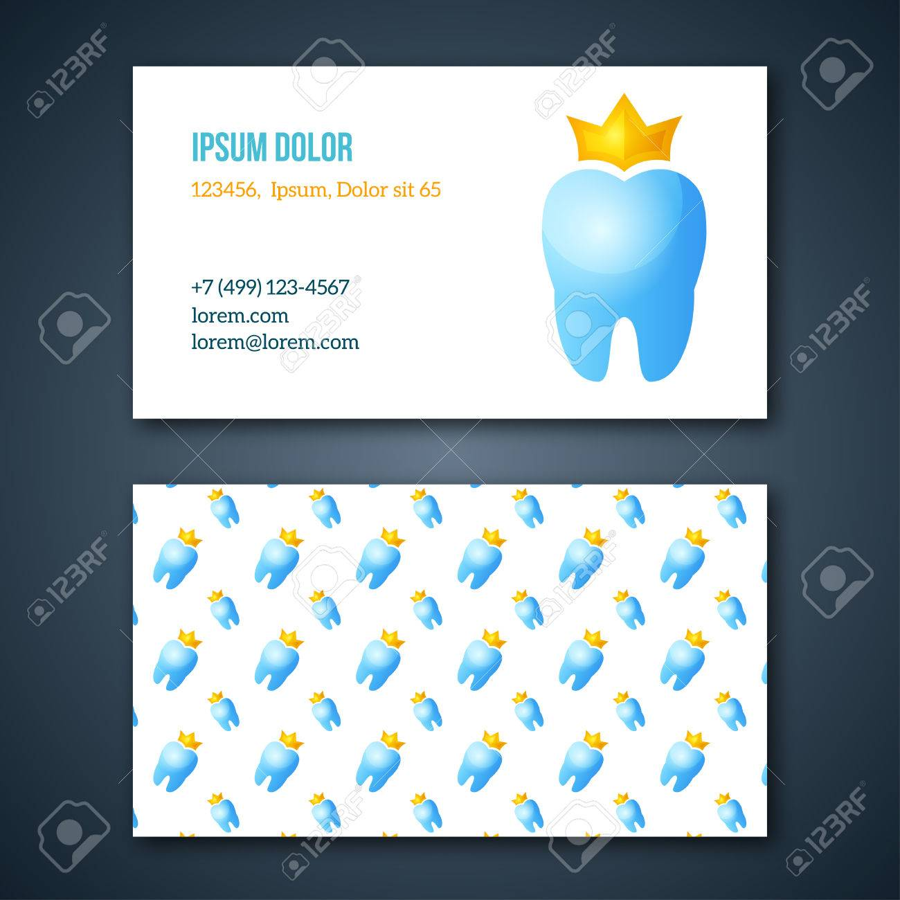 Dental Clinic Corporate Identity Template. Dentist Business Cards ...