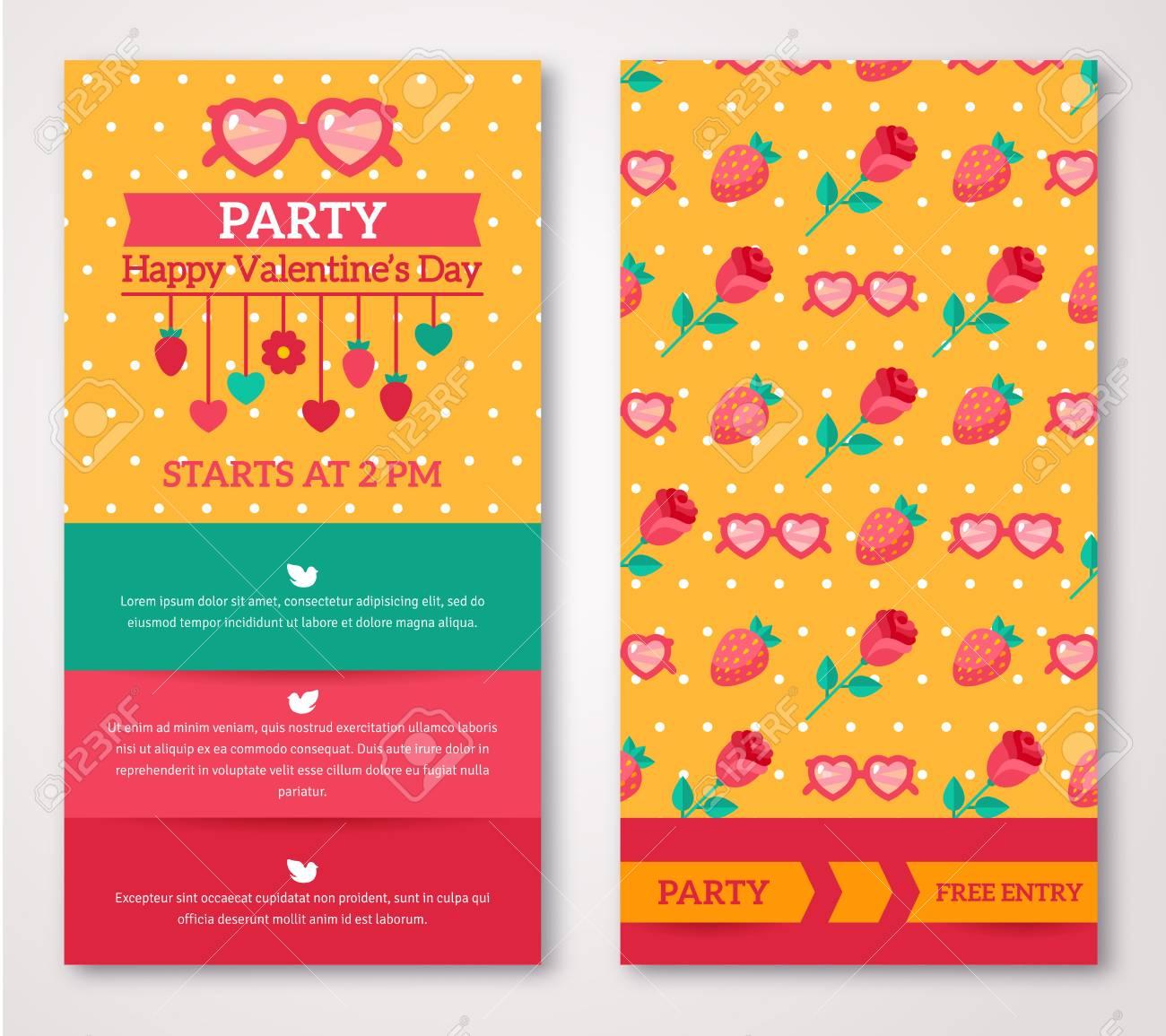 Schone Gruss Oder Einladungskarten Mit Schnorkel Muster Valentinstag