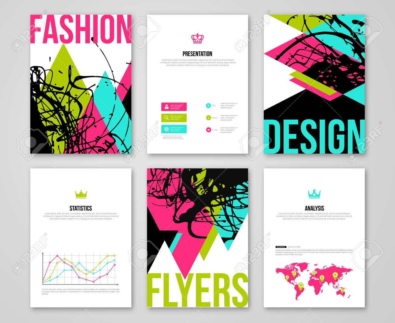 Set of fashionable business card templates crown king symbols set of fashionable business card templates crown king symbols abstract modern vector colorful triangles colourmoves