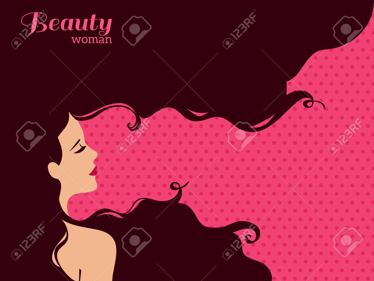 Vintage Fashion Woman With Long Hair Vector Illustration Stylish Royalty Free Cliparts Vectors And Stock Illustration Image 54940227