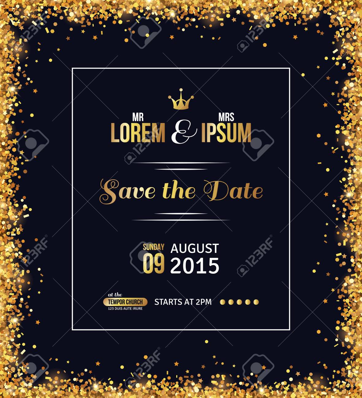 Invitation Card Background Black And Gold Wedding Galery