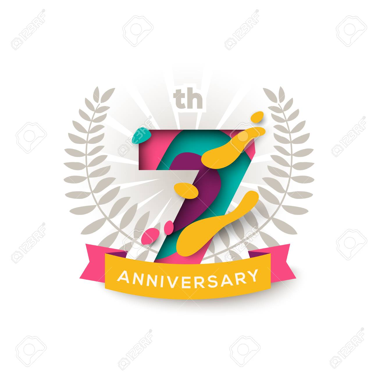 Seven Years Anniversary Royalty Free Cliparts, Vectors, And Stock ...