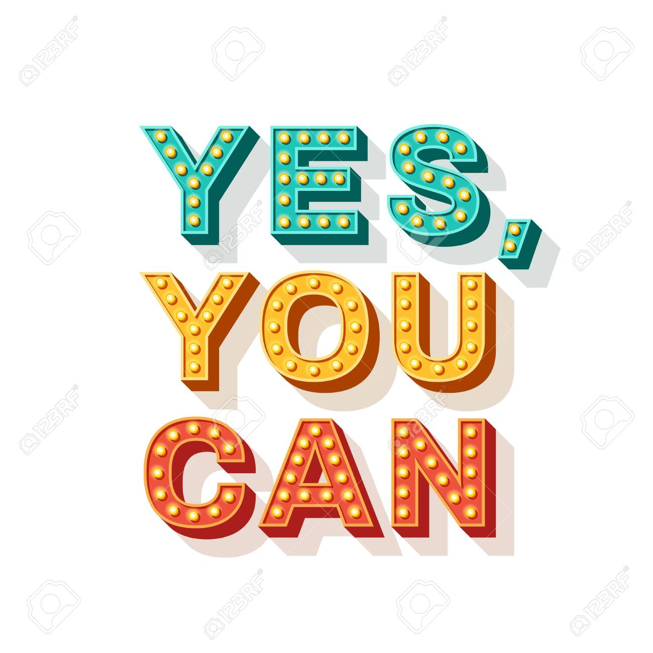 Yes You Can Qoute Royalty Free Cliparts Vectors And Stock Illustration Image 123916887