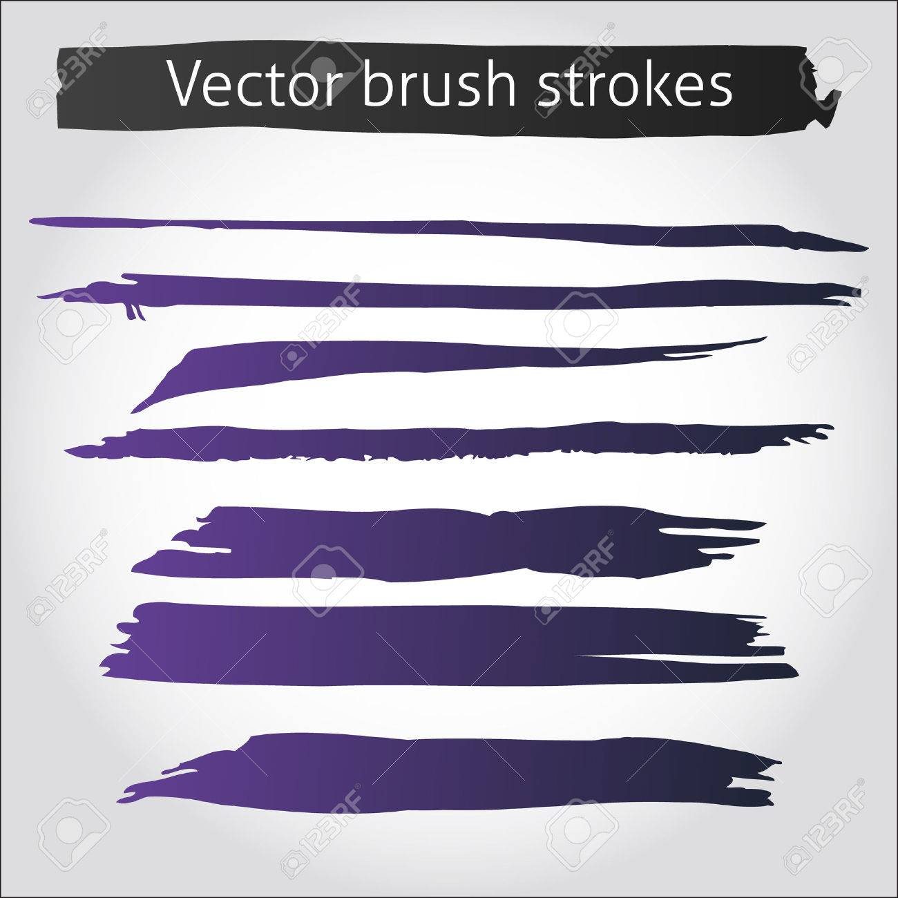 Free Ink Pens Set Of Vector Straight Purple Ink Pen Strokes Royalty Free