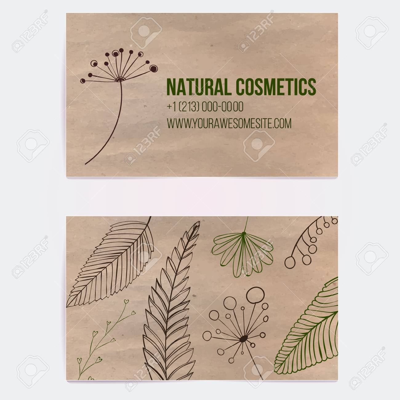 Two Sided Business Card For Natural Cosmetics Store Or Other ...